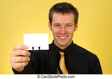 Business Man and Card