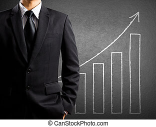 Business man and growth chart