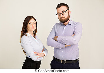 business man and woman in the Office