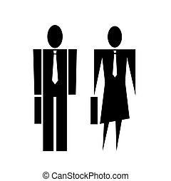 Business man and woman symbol