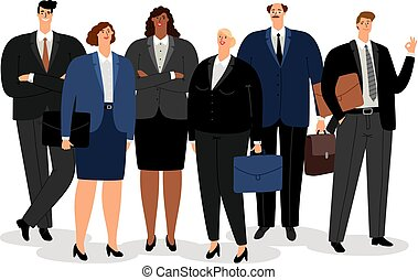 Business man and women