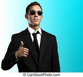 business man approve - portrait of a serius business man...