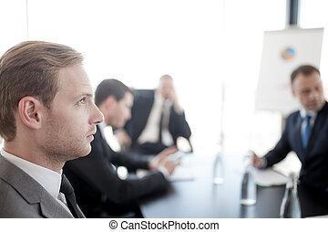 Business man at meeting