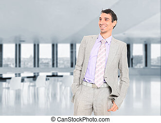 Business man at the office - A Business man at the office