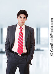 Business man at the office - young Business man at the...