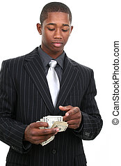 Business Man - Attractive young african american man in...