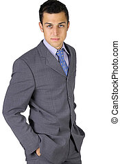Business man - attractive young business man
