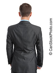 business man back view