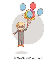 Business man balloon