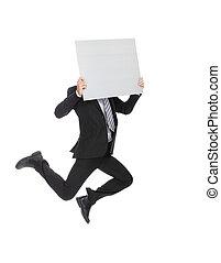 business man billboard
