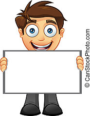 Business Man - Blank Sign - 10 - A vector illustration of a ...