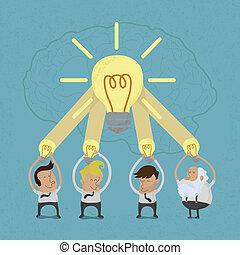 Business man brainstorming , eps10 vector format
