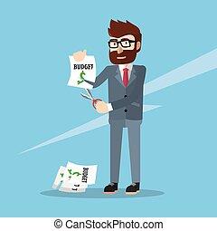 business man budget cut