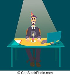 Business man businessman in suit working
