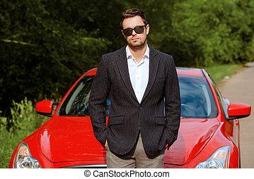 business man car
