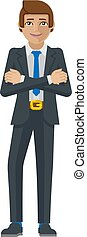 Business Man Cartoon Character Mascot