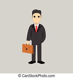 Business man cartoon character.- vector illustration