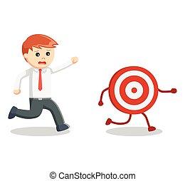 Business man catch target