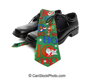 Business Man Christmas Tie