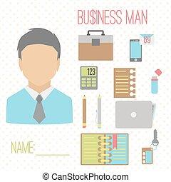 Business man color set