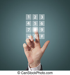 compose telephone number - business man compose telephone...