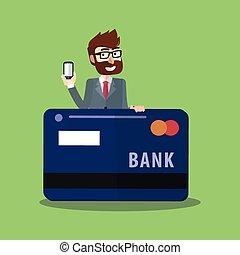 Business man credit card