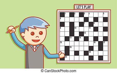 Business man crossword