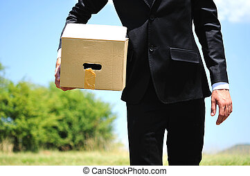 Business Man delivery box