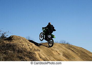 business man dirt bike