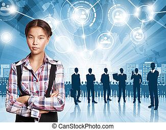 Business Man Employer - HR concept. Business man choosing...