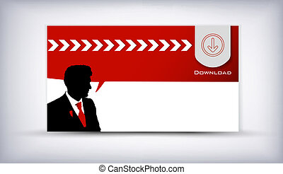 business man - Card of business man speaking background...