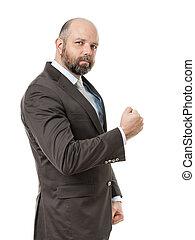 business man fist