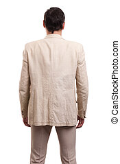 business man from the back. Isolated