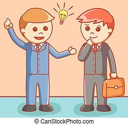 Business man giving idea
