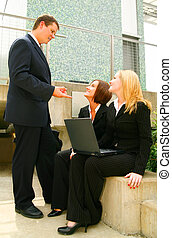 Business Man Giving Instruction