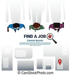 Business Man Group Find Job Curriculum Vitae Recruitment Candidate Position, CV Profile