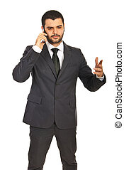 Business man having conversation by phone