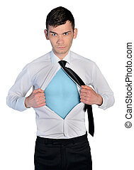 Business man hero concept