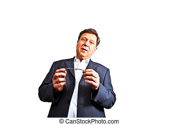 business man holding a speech