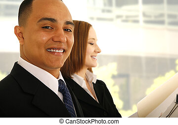 Business Man Holding Folder And Smile
