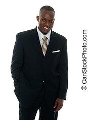 Business Man in Black Suit 3