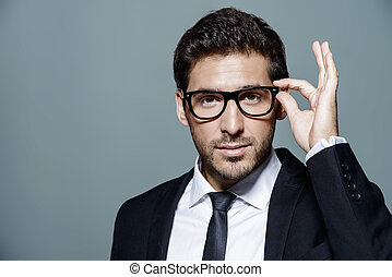 business man in spectacles