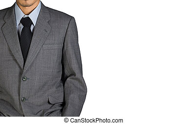 business man in suit on white isolated background