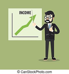 Business man income presentation