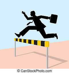 business man jump for success