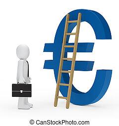 business man ladder euro blue - business man briefcase tie...