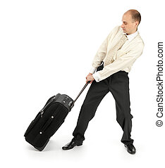 Business man leaving in a travel