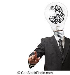 business man light bulb