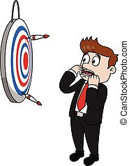 Business man lost target
