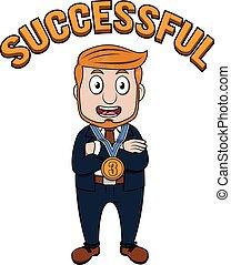 Business man medal